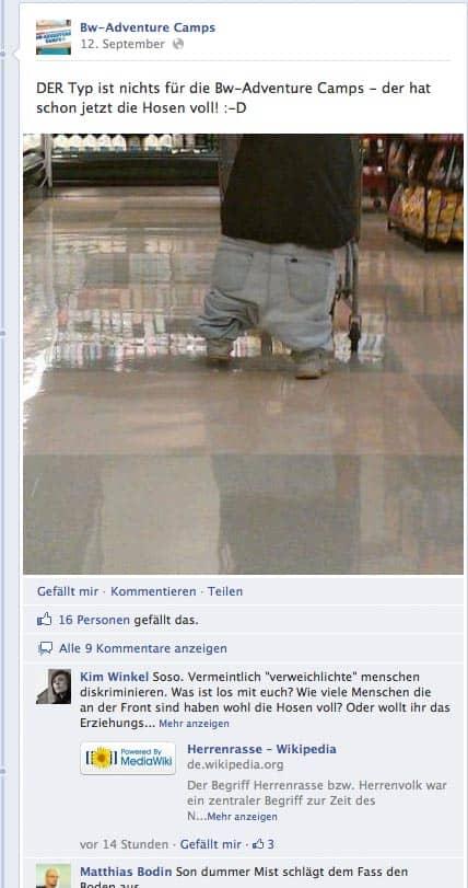 Bundeswehr-Camp 2012 Facebook-Seite (Screenshot, Ausschnitt)