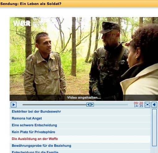 Screenshot: Ein Leben als Soldat