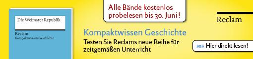 Banner reclam: Kompaktwissen Geschichte