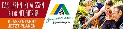 Banner: DJH-Klassenfahrten 2020