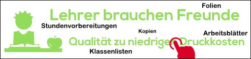Banner: Printer-care.de - Drucker für Lehrer