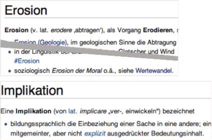 Wikipedia: Erosion, Implikation