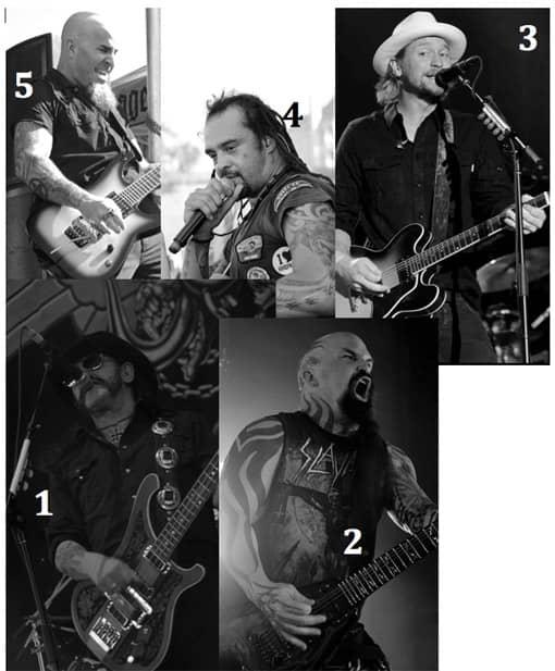 Vorschau: Folie mit 5 Musikern, die beschrieben werden sollen