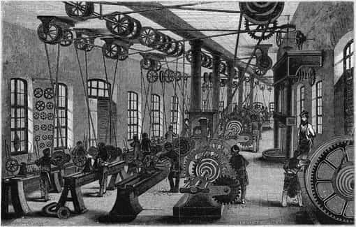 Vorschaubild: Fabrikhalle im Jahr 1849