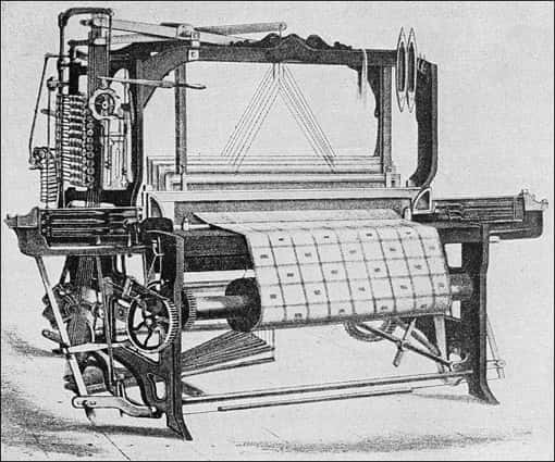 Mechanischer Webstuhl Power Loom, 1855