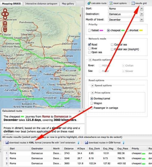 Orbis: Route für Google Earth speichern