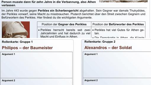 segu- Beispiel Rollenspiel Scherbengericht (Ausschnitte)