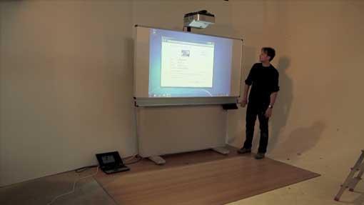 Fertig umgerüstetes interaktives Whiteboard