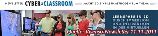 Ausschnitt aus dem Visenso-3D-Newsletter (11.11.2011)