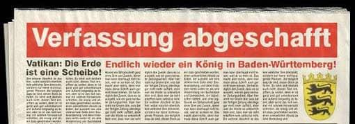 Beispiel: Zeitungsheadline