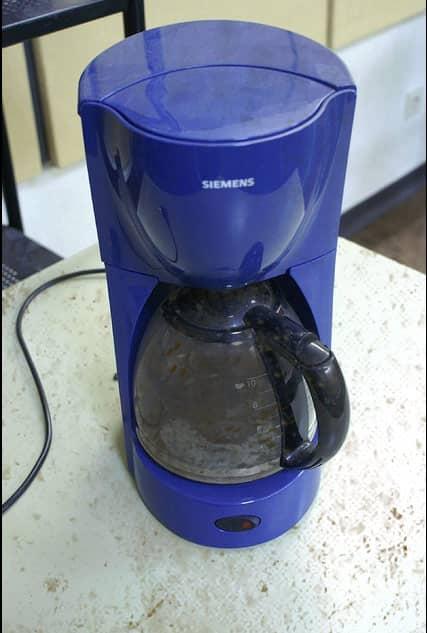 Dreckige Kaffeemaschine