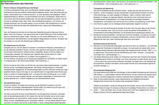 Vorschaubild: Arbeitsblatt zur Überwachung des Internets