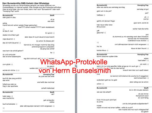 Vorschau: Arbeitsblatt WhatsApp-Protokoll