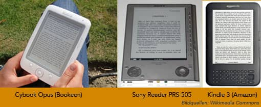 Drei E-Book-Reader