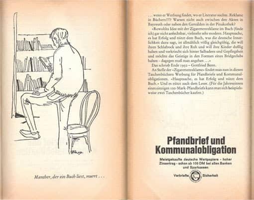 Werbung im Buch