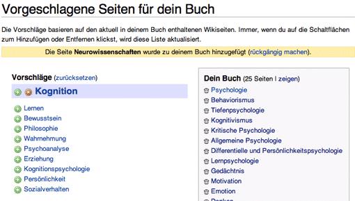 Wikipedia-Buchgenerator: Vorgeschlagene Seiten