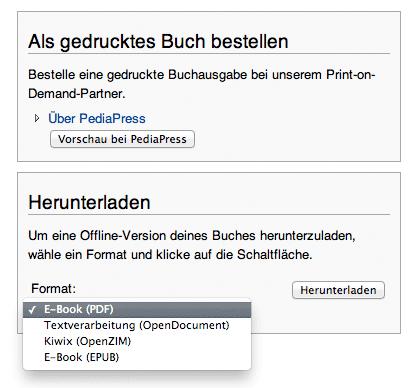Wikipedia: Buch publizieren