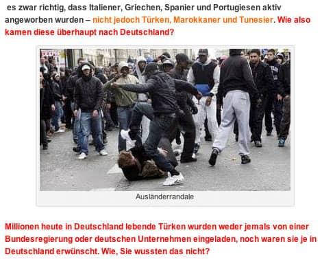 Bildverwendung zur Meinungsmache in einem rechtsradikalen Blog