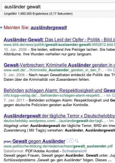 Suchergebnisliste (Aufgabe: URLs betrachten)
