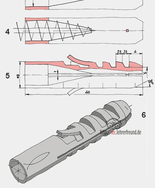 Dübel - Konstruktionsskizzen