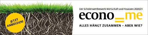 Anzeige: econome Schülerwettbewerb Wirtschaft