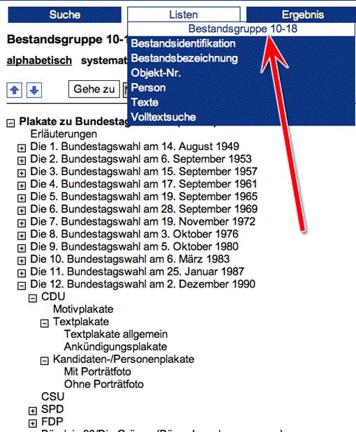 Wahlplakate-Archiv: Bestandsauswahl
