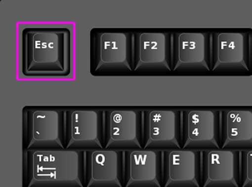 Taste escape auf der Tastatur
