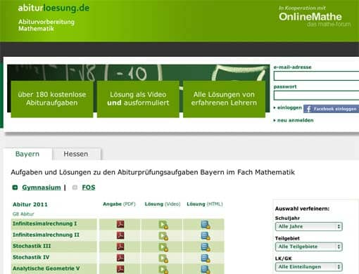 Screenshot: abiturloesung.de