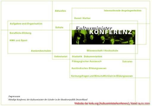 Website der Kultusministerkonferenz seit 2001 bis 2008