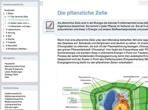 Schulbuch-O-Mat: Pflanzliche Zelle (LOOP)