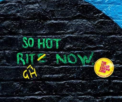 Graffiti mit Rechtschreibkorrektur