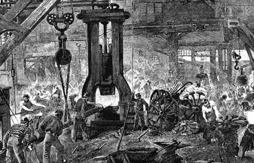Stahlwerk in Deutschland, ca. 1890