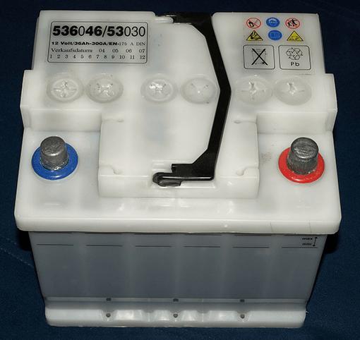 So sieht eine Blei-Säure-Batterie aus