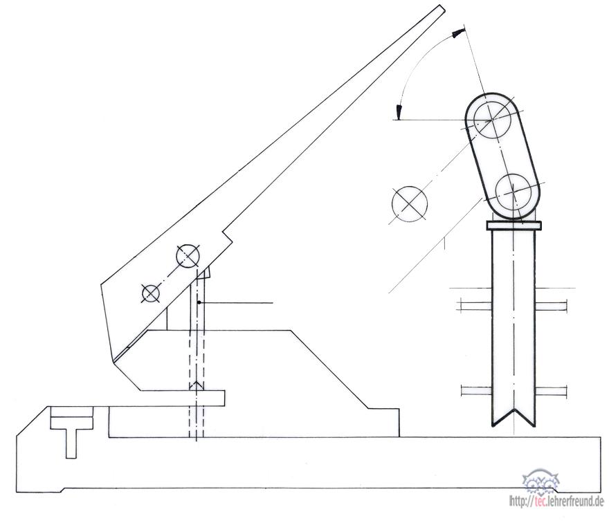 Papierlocher, Übung zur Culmann-Geraden (2) • tec.Lehrerfreund