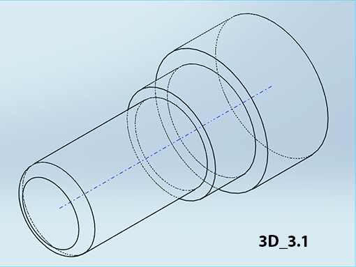 3d cad 2 2 stufenbolzen modellieren durch rotation