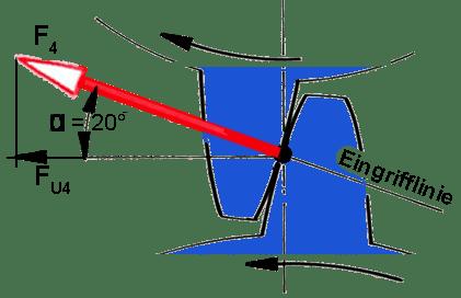 Zahnrad: Eingriffslinie