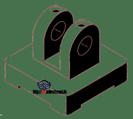 Spannpratze in isometrischer Perspektive