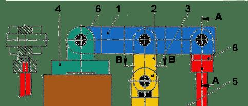 Zeichnung Spannvorrichtung mit Bauteilen