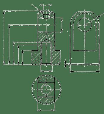 Geometrie der Spannpratze