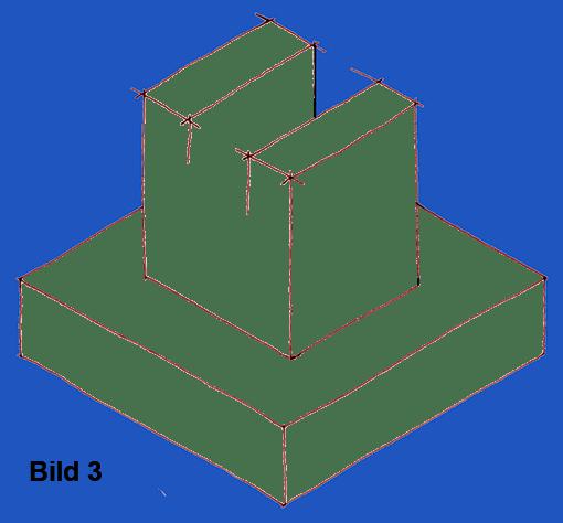Spannpratze, Vorzeichnung in isometrischer Perspektive