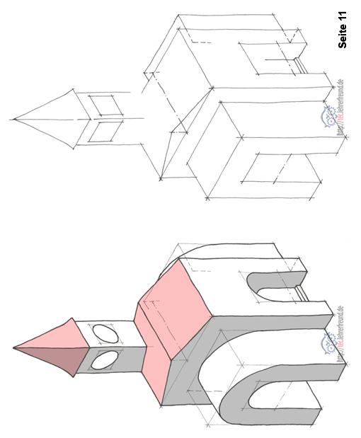 Gebäude in isometrischer Perspektive