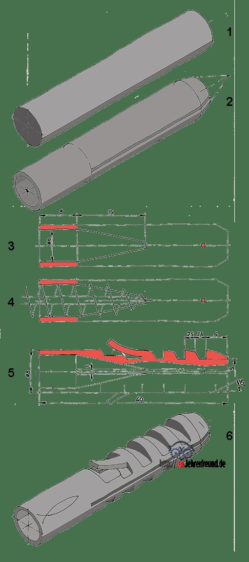 Entwurfsschritte für einen Fischer-Dübel