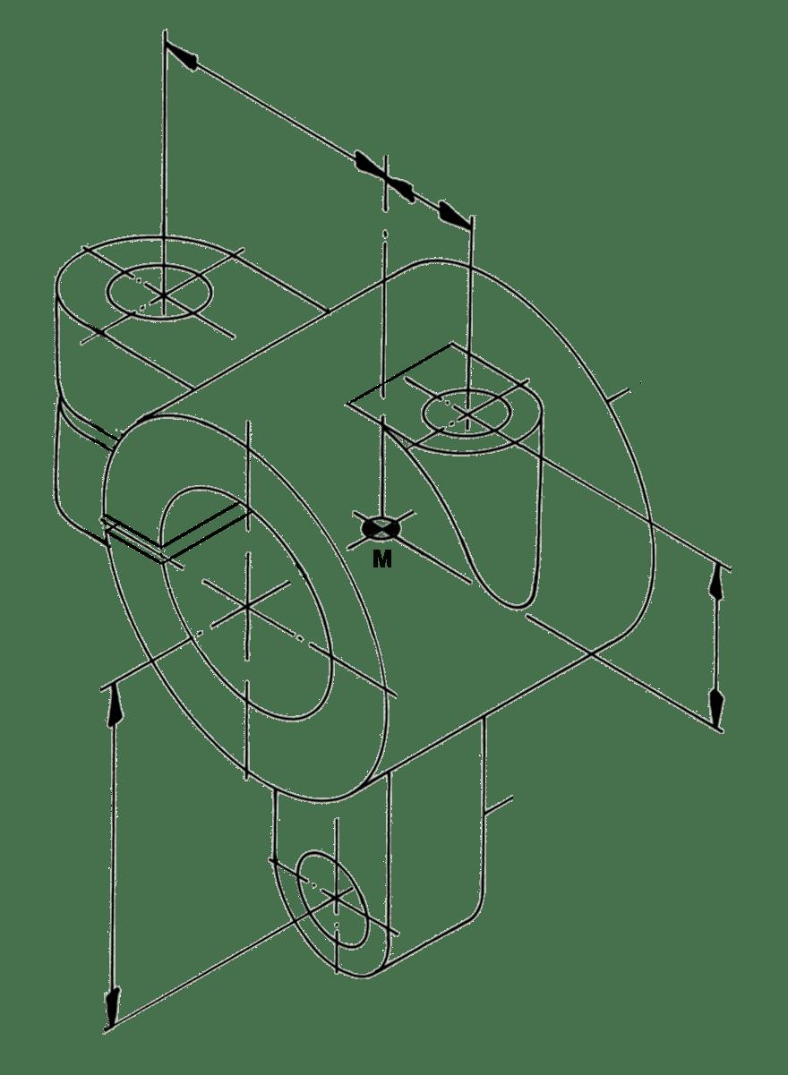 einen klemmring in perspektive und ansichten zeichnen tec lehrerfreund. Black Bedroom Furniture Sets. Home Design Ideas