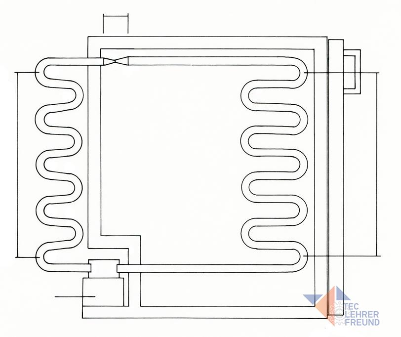 Kühlschrank Skizze für Arbeitsblatt