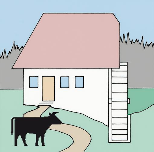 Bild Wassermühle vereinfacht dargestellt