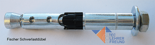 Foto eines Schwerlastdübels oder Stahlankers