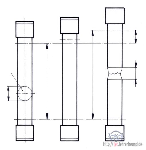 werkstoffpr fung 1 zugversuch tec lehrerfreund. Black Bedroom Furniture Sets. Home Design Ideas