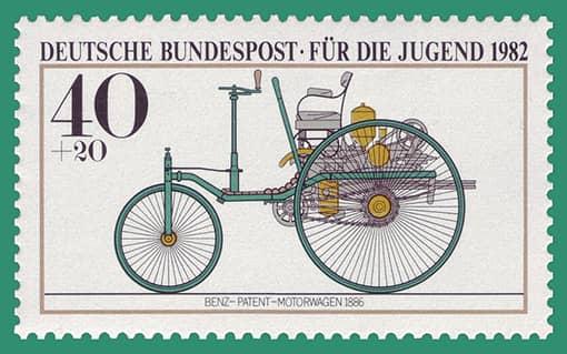 Bild Briefmarke Benz Motorwagen