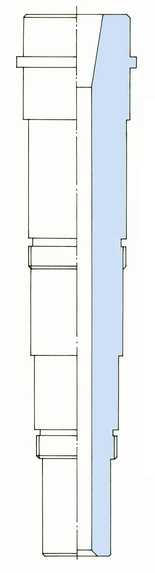 Hauptspindel als Detailzeichnung