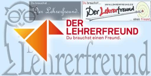 Lehrerfreund-Logos der Jahre 2000 bis 2014